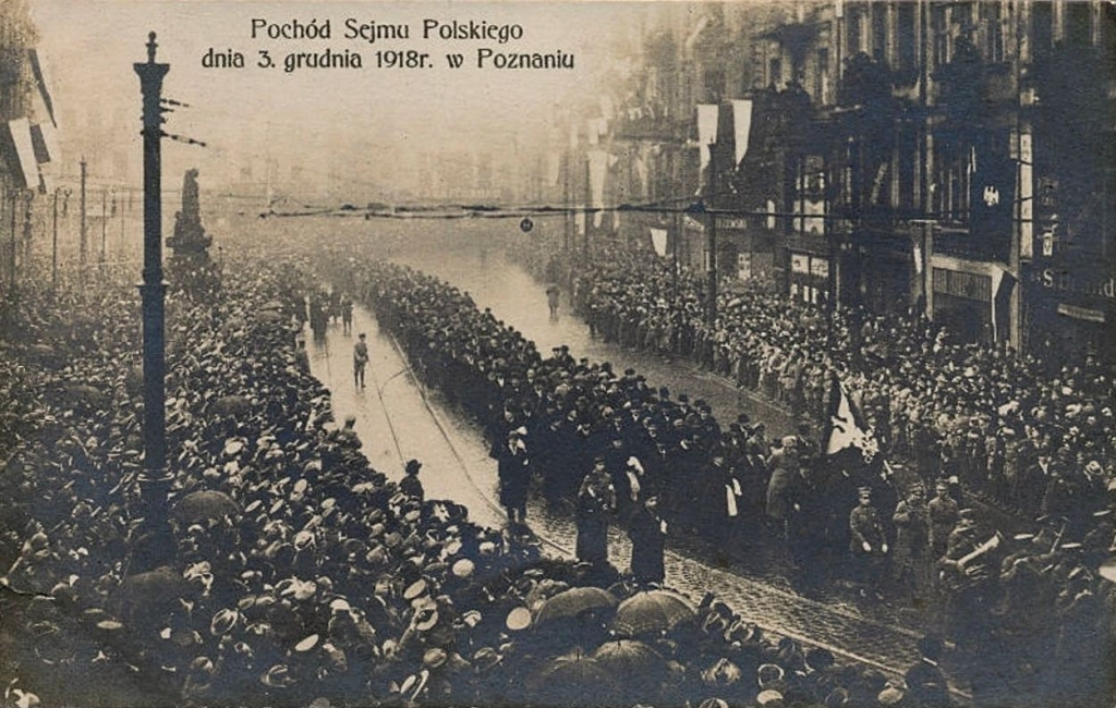 Pochod Sejmu Dzielnicowego 3 grudnia 1918 w Poznaniu